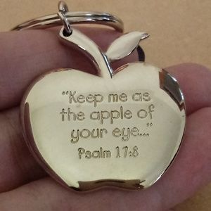 Accessories - Keep Me As The Apple Of Your Eye Bible Keychain